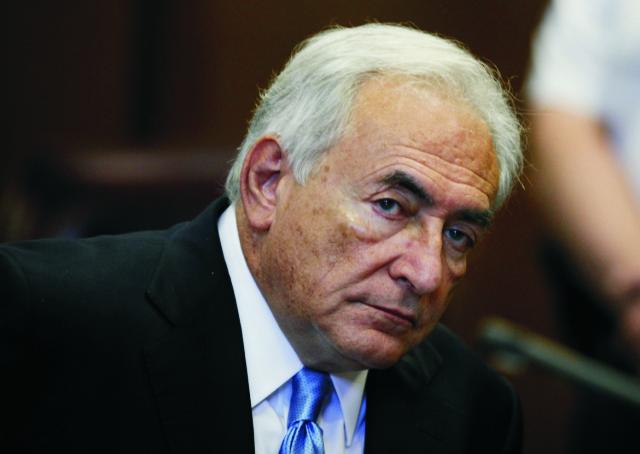 Na archívnej snímke  bývalý riaditeľ Medzinárodného menového fondu (MMF) Dominique Strauss-Kahn