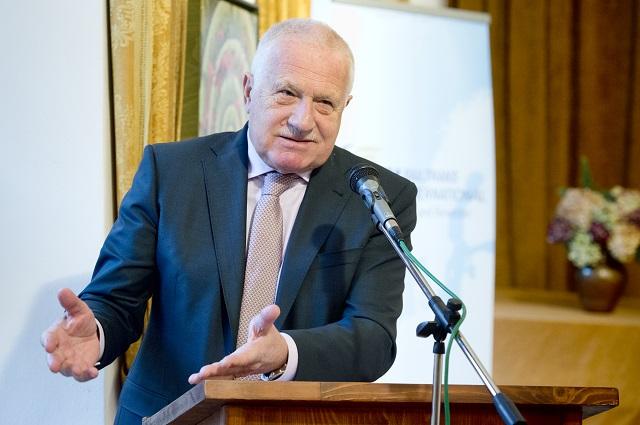 Na snímke bývalý prezident Českej republiky Václav Klaus