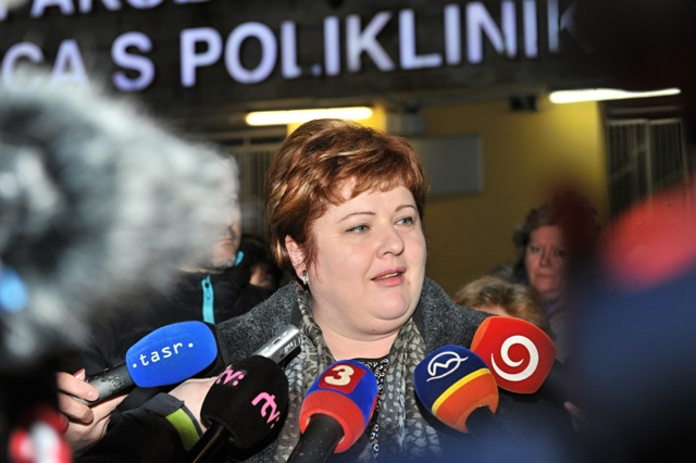 Na snímke predsedníčka Odborového združenia sestier a pôrodných asistentiek Monika Kavecká