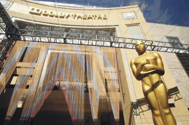 Na snímke prípravy na 88. ročník slávnostného udeľovania cien americkej  Akadémie filmových umení a vied 23. februára 2016 v Los Angeles