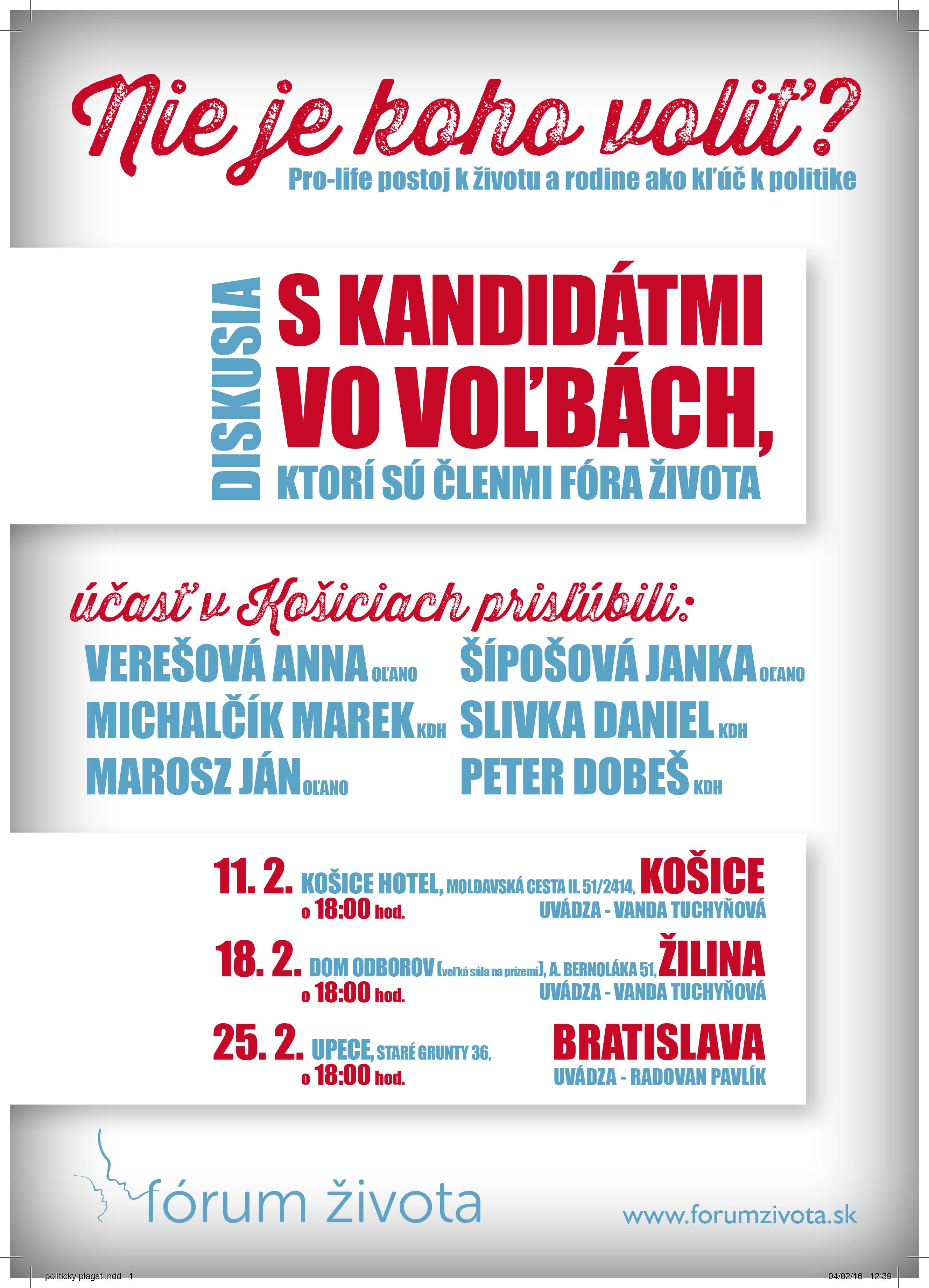 plagát_politické diskusie
