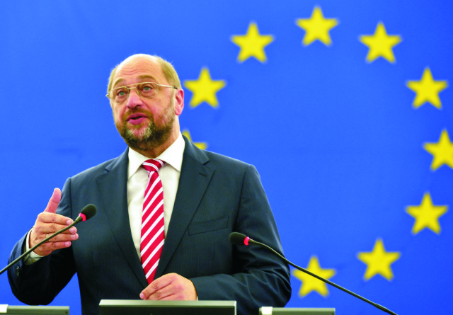 Na archívnej snímke Martin Schulz