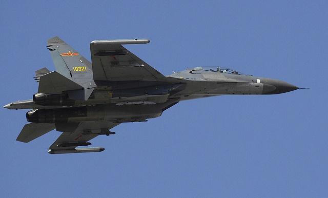 Na snímke čínska stíhačka Shenyang j-11