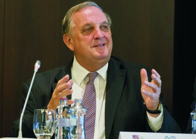 Na snímke predseda Svetovej komorovej federácie Medzinárodnej obchodnej komory Peter Mihók