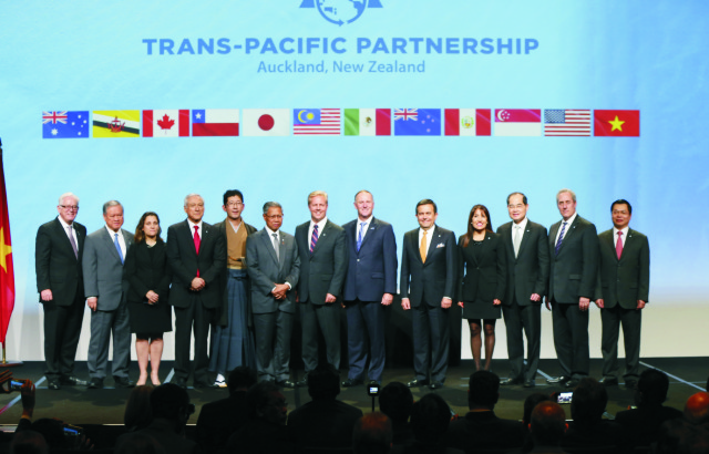 Predstavitelia 12 štátov z oblasti Tichého oceánu, vrátane Spojených štátov, dnes slávnostne podpísali dohodu o voľnom obchode. TPP zahŕňa Austráliu, Brunej, Čile, Japonsko, Kanadu, Malajziu, Mexiko, Nový Zéland, Peru, Singapur, USA a Vietnam