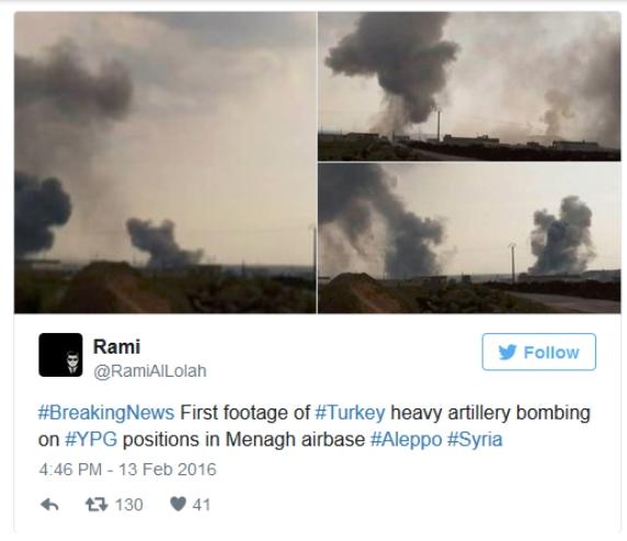 Na sociálnych sieťach sa objavujú fotky tureckého ostreľovania sýrskeho územia