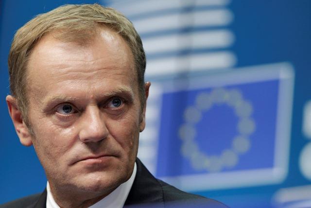 Na snímke predseda Európskej rady Donald Tusk
