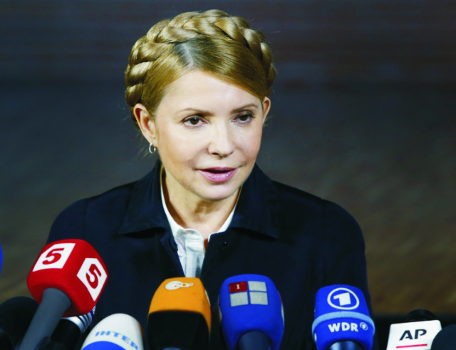 Na snímke Julija Tymošenková