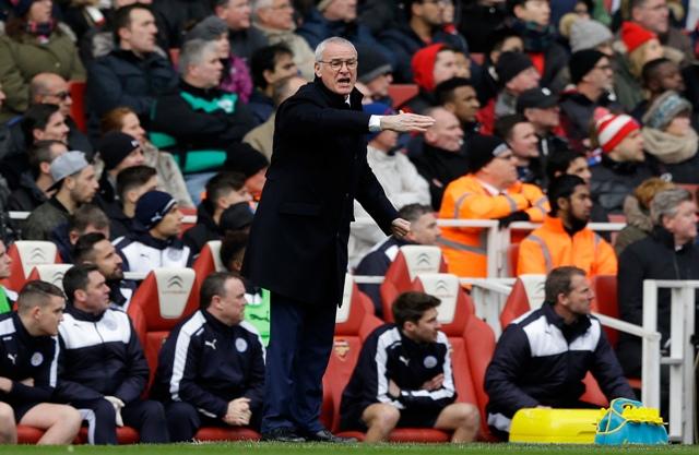 Na snímke tréner Leicesteru City Claudio Ranieri
