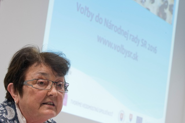 Na snímke predsedníčka Štatistického úradu SR Ľudmila Benkovičová