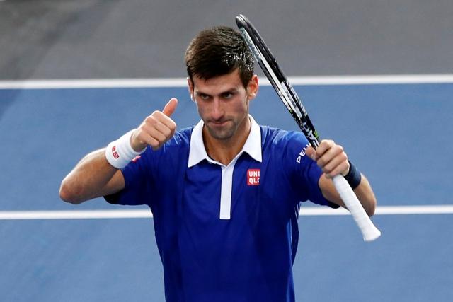 Na snímke srbský tenista Novak Djokovič