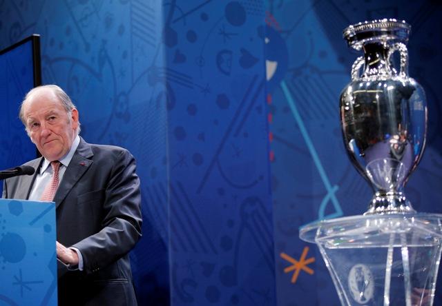 Na snímke prezident organizačného výboru EURO 2016 vo futbale Jacques Lambert