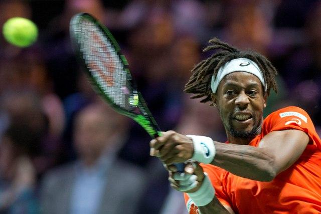 Na snímke francúzsky tenista Gael Monfils