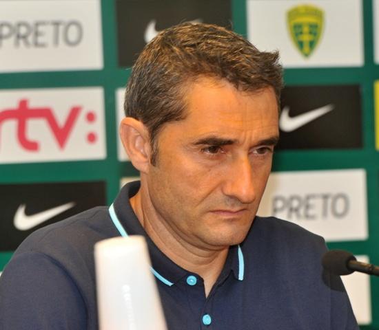 Na snímke tréner mužstva Athletic Bilbao Ernesto Valverde