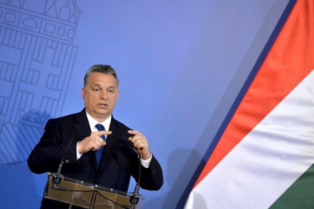 Na snímke predseda maďarskej vlády Viktor Orbán