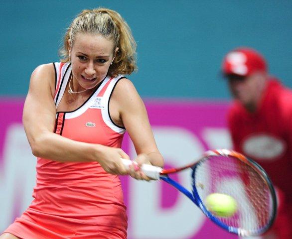 Na snímke slovenská tenistka Kristína Kučová