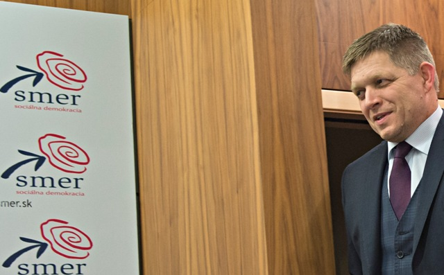 Na snímke predseda Smeru-SD Robert Fico