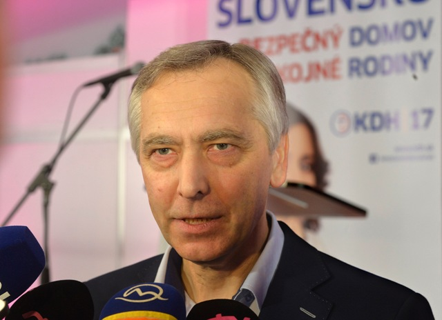 Na snímke predseda KDH Ján Figeľ