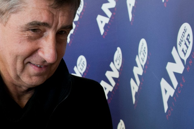 Na snímke líder politického hnutia ANO Andrej Babiš