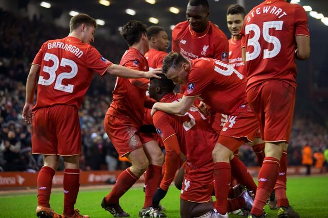 Na snímke hráči Liverpoolu