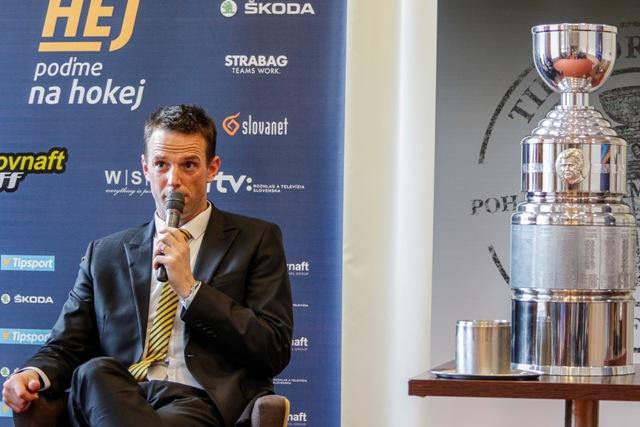 Na snímke šéf Pro-Hokej Richard Lintner