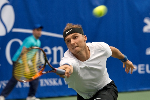 Na snímke slovenský tenista Jozef Kovalík