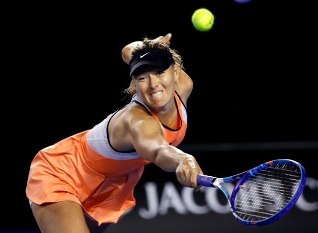 Na snímke ruská tenistka Maria Šarapovová