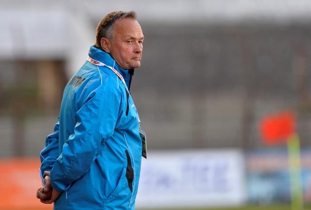 Na snímke tréner slovenskej futbalovej reprezentácie do 17 rokov Ladislav Hudec