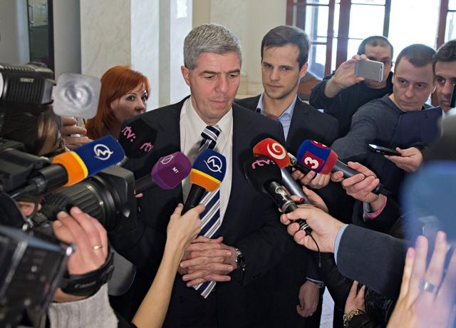 Na snímke predseda strany Most-Híd Béla Bugár