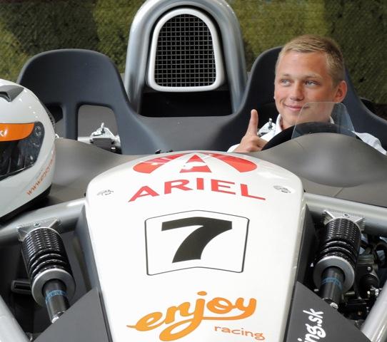 Na snímke automobilový jazdec Matej Homola