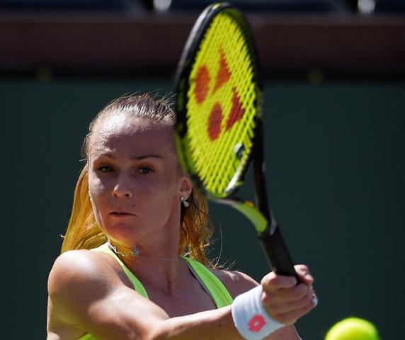 Na snímke slovenská tenistka Magdaléna Rybáriková