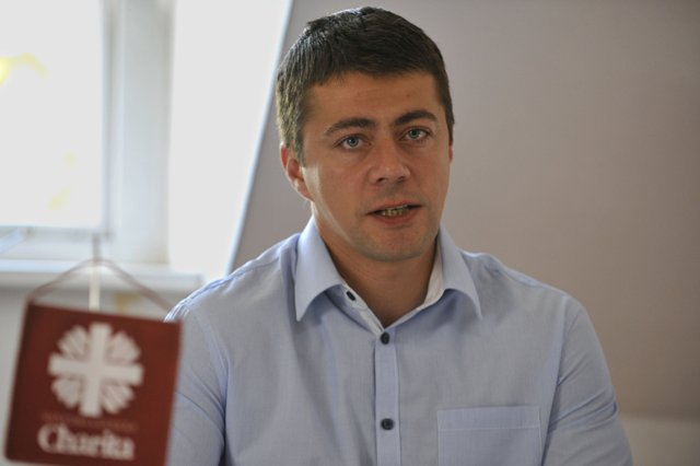Na snímke generálny sekretár Slovenskej katolíckej charity  (SKCH) Radovan Gumulák