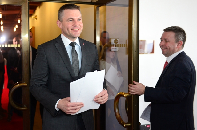 Na snímke predseda Národnej rady SR Peter Pellegrini (vľavo)