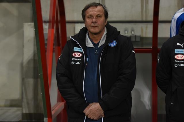 Na snímke tréner Slovenska Ján Kozák v priateľskom zápase Slovensko - Lotyšsko