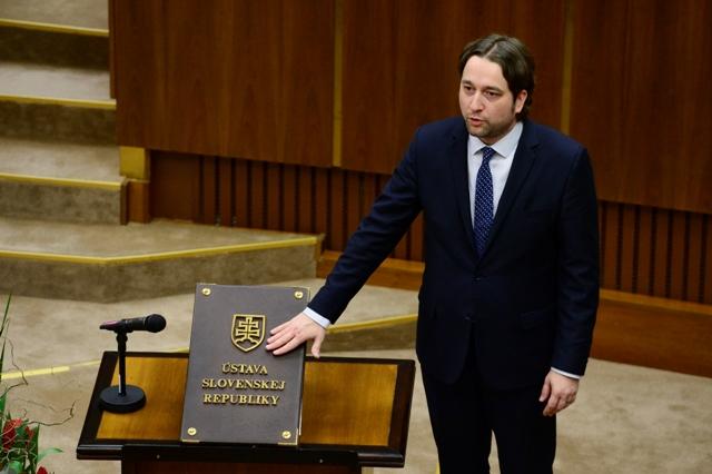 Na snímke Ľuboš Blaha (Smer-SD)