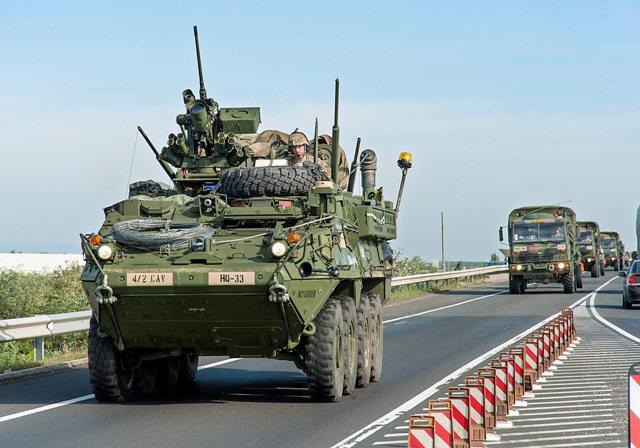 Na ilustračnej snímke americké armádne vozidlo