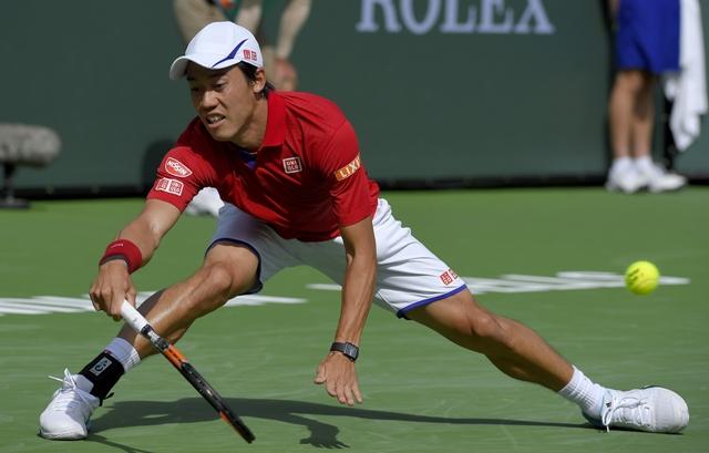 Na snímke japonský tenista Kei Nišikori
