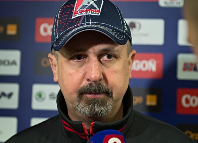 Na snímke tréner hokejovej reprezentácie Zdeno Cíger