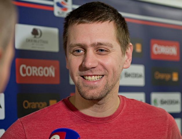 Na snímke brankár Branislav Konrád