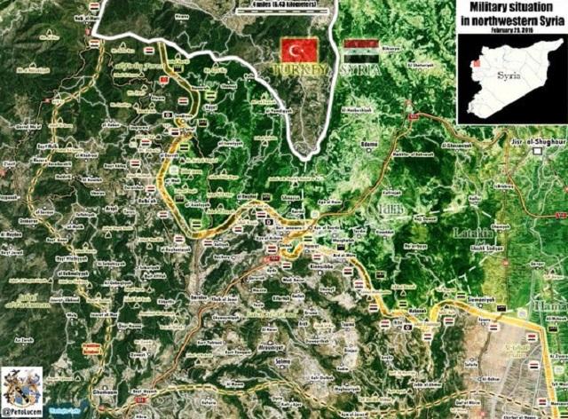 Mapka s vyznačením miesta útokov