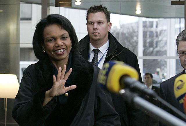Na archívnej snímke bývalá americká ministerka zahraničných vecí Condoleezza Riceová