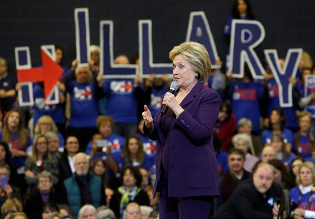 Na snímke Hillary Clintonová Foto: Elise Amendola