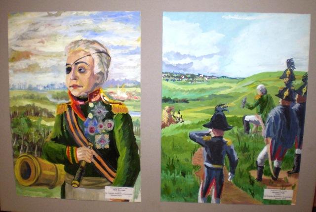Na snímke vystavované diela