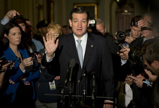 Na snímke republikánsky senátor Ted Cruz