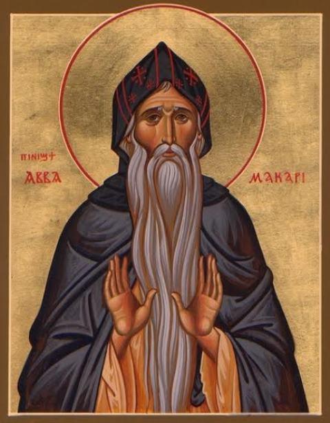 Na snímke sv. Makárius z Alexandrie