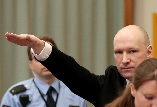 Na snímke masový vrah Anders Behring Breivik