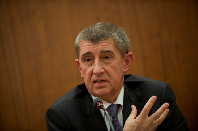 Na snímke český minister financií Andrej Babiš