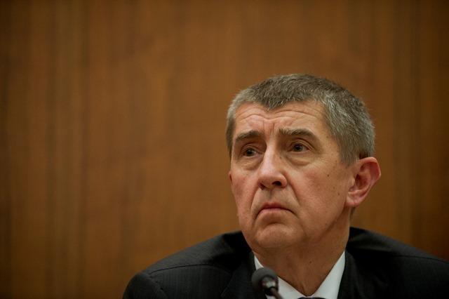Na snímke minister financií ČR Andrej Babiš
