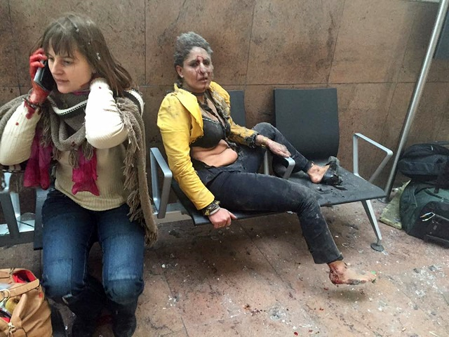 Ranené ženy na bruselskom letisku