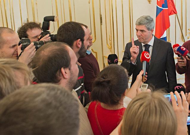 Na snímke líder strany Most-Híd Béla Bugár
